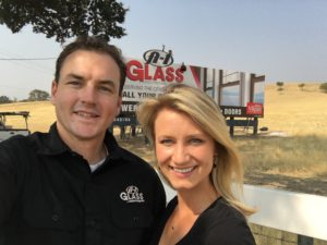 Bryan (left) and Sophia (right), Owners of A-1 Glass.